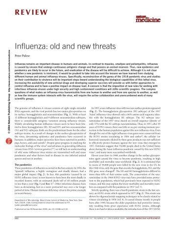 Influenza: old and new threats - Bird Flu