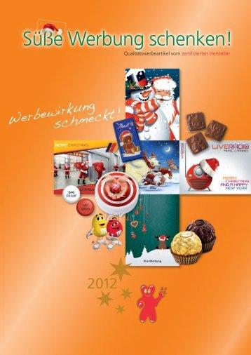 Süße Werbung schenken! - 4 Business Werbemittel und Vertriebs ...