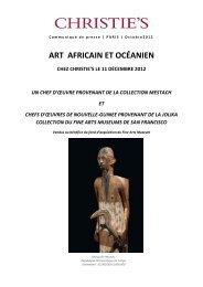 ART AFRICAIN ET OCÉANIEN - Christie's
