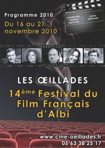 le catalogue officiel - Festival du film francais d'Albi
