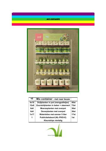 volledige cataloguszonder prijzen - Hydroflora