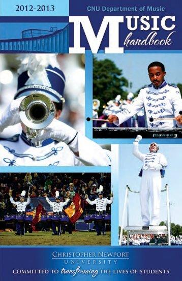 2012-13 Department of Music Handbook - Christopher Newport ...