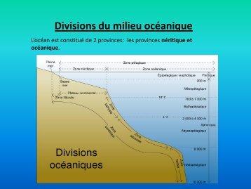 Divisions du milieu océanique