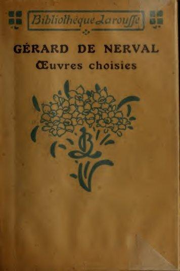 Oeuvres choisies de Gérard de Nerval