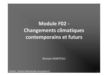 Romain Marteau - Université de Provence