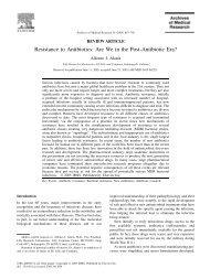 Resistance to Antibiotics: Are We in the Post-Antibiotic Era? - Bird Flu