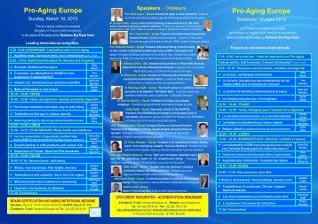 Pro-Aging Europe Pro-Aging Europe - IIAAAM