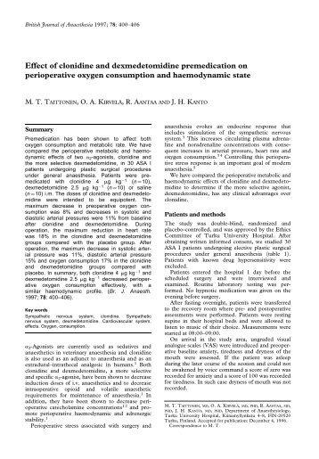 Dexmedetomidine Magazines