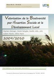 2009/2010 Valorisation de la Biodiversité par l'Insertion Sociale et le ...