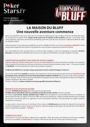 Lancement La Maison du Bluff - PokerStars.fr