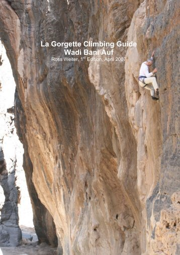 La Gorgette Climbing Guide Wadi Bani Auf - Oman Adventure Sports