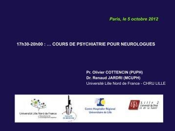 Cours de psychiatrie pour neurologues