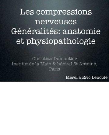 Compression nerveuses: généralités C. Dumontier - ClubOrtho.fr