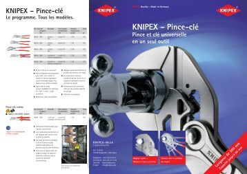 KNIPEX – Pince-clé - ITS International Tools Service
