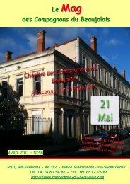 Le Mag des Compagnons du Beaujolais N° 58 - Accueil du site
