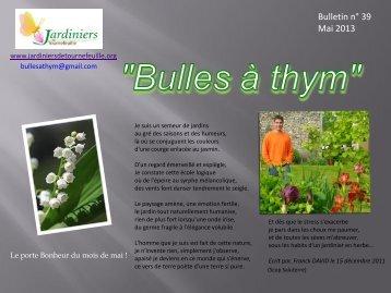 Bulles à thym n°39 - Jardiniers de Tournefeuille