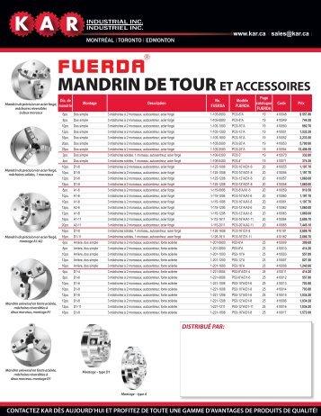 de mandrins de tour Fuerda maintenant disponibles ! – Mars 2010