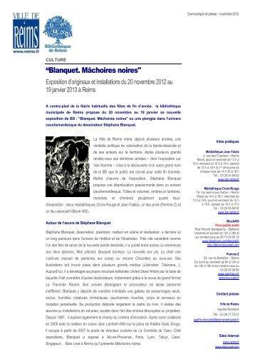 CQ Expo Blanquet Machoires noires nov12 - Ville de Reims