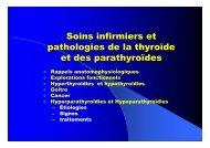 Soins infirmiers et pathologies de la thyroïde et des ... - snowratm
