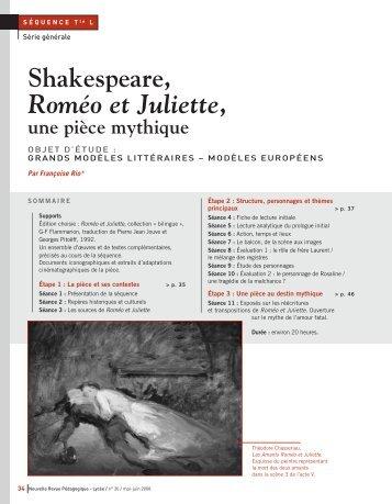 Shakespeare, Roméo et Juliette, une pièce mythique - WebLettres