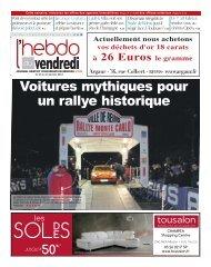 Voitures mythiques pour un rallye historique - L'Hebdo du Vendredi
