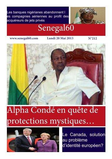 Senegal60 Alpha Condé en quête de protections mystiques…