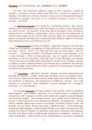 1 Mystique – pas de mot hébreu ; grec : μυστικοσ ; latin : mysticus ...