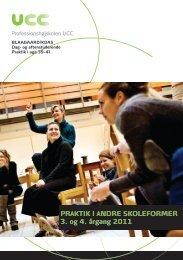 PRAKTIK I ANDRE SKOLEFORMER 3. og 4. årgang 2011