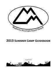 2013 Summer Camp Guidebook - Black Hills Area Council