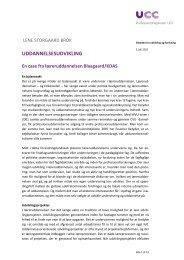 UDDANNELSESUDVIKLING - Læreruddannelsen Blaagaard/KDAS