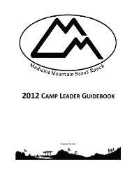 2012 CAMP LEADER GUIDEBOOK - Black Hills Area Council