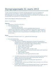 Dagsorden og referat fra mødet i styregruppen 22. marts 2012