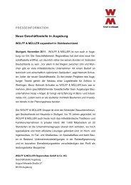 Neue Geschäftsstelle in Augsburg - Wolff & Müller