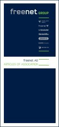 Articles of association of the freenet AG