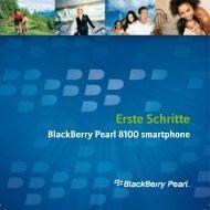Erste Schritte - BlackBerry Pearl 8100 smartphone