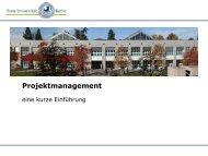 Einführung in die Praxis des Projektmanagements