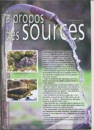 A propos des sources (Henri Gautherin) - Vents du Morvan