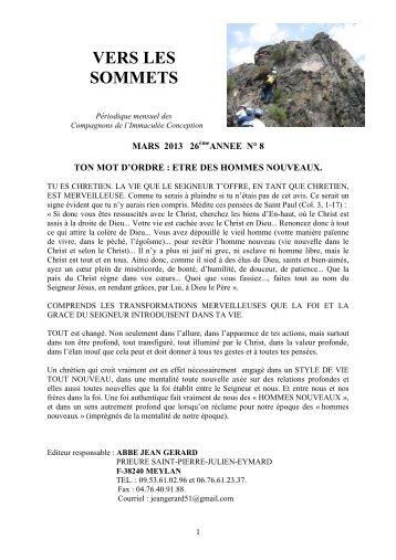 Vers les sommets de mars 2013 - Ton mot d'ordre - La Porte Latine