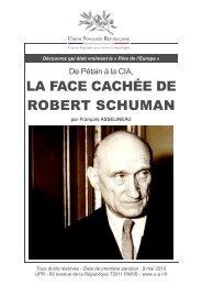 LA FACE CACHEE DE ROBERT SCHUMAN - UPR