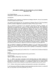 REGLAMENTO GENERAL DE APLICACIÓN DE LA LEY DE TURISMO