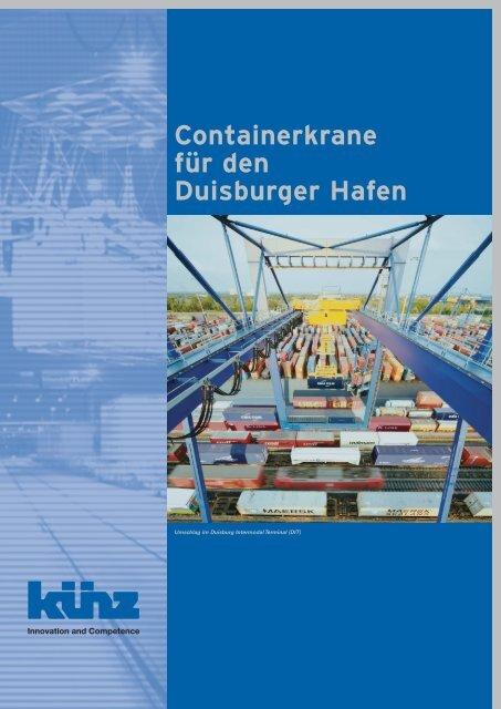 Containerkrane für den Duisburger Hafen