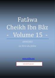 Compilation des Fatwas de Cheikh Ibn Baz - Volume 15 - (le jeûne ...