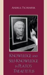 Knowledge and Self-knowledge in Plato's Theaetetus