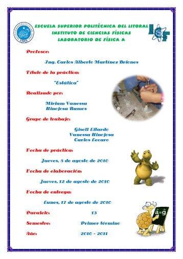 Reporte Estática - Blog de ESPOL - Escuela Superior Politécnica ...