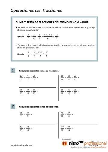 Operaciones con fracciones 1 - Blog de ESPOL