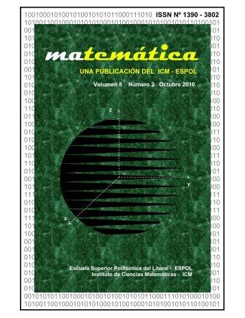 Volumen 8 Número 2 Octubre 2010 - Blog de ESPOL - Escuela ...