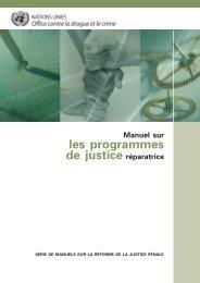 Manuel sur les programmes de justice réparatrice - United Nations ...