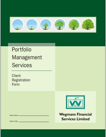 Download File - Wegmans Portfolio Management Services - HOME