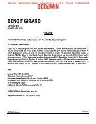 BENOIT GIRARD - Agence Goodwin
