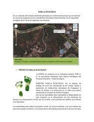 HUELLA ECOLÓGICA Es un indicador del impacto ... - Blog de ESPOL